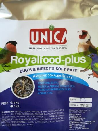 UNICA ROYALFOOD BUG'S & INSECT'S SOFT PATE' -PER UCCELLI INSETTIVORI